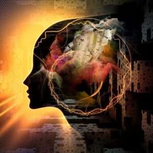 Design Of Human Mind Imagination And Inner Thoughts Background