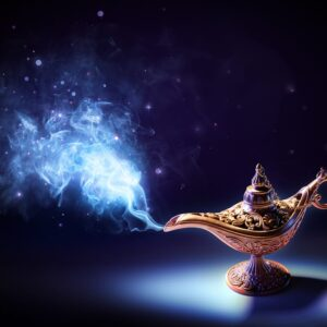 Magic Smoke Is Coming From Wishing Lamp