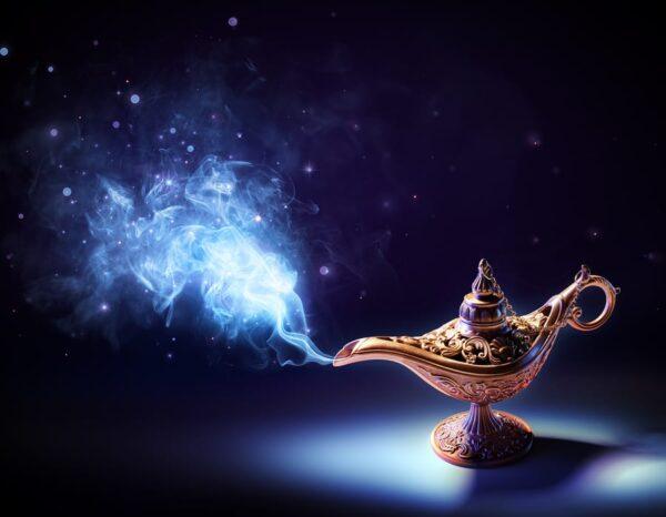 Magic smoke is coming from wishing lamp