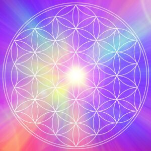 Sacred And Spiritual Geometry Shape With Colorful Background