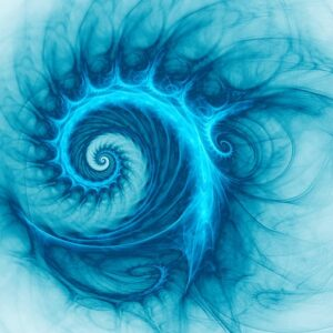 Space Snail Spiral Galaxy 3d Surreal Stock Illustration In Blue Color