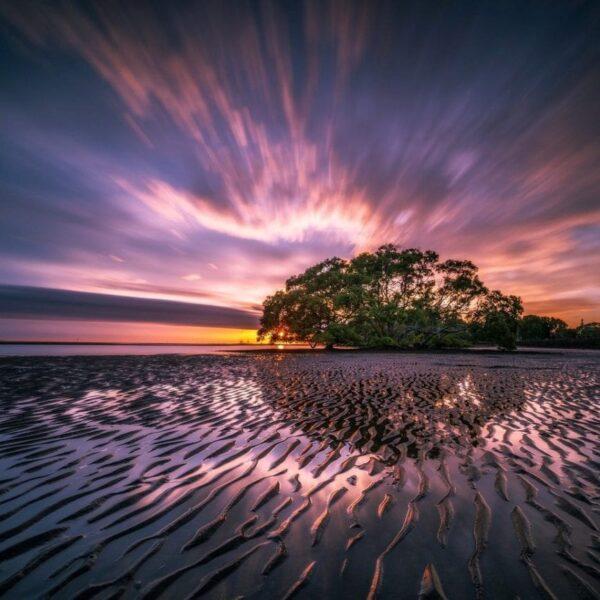 Tunning beach landscape photography