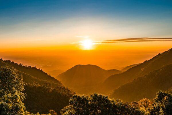 Vening view of mountains - landscape