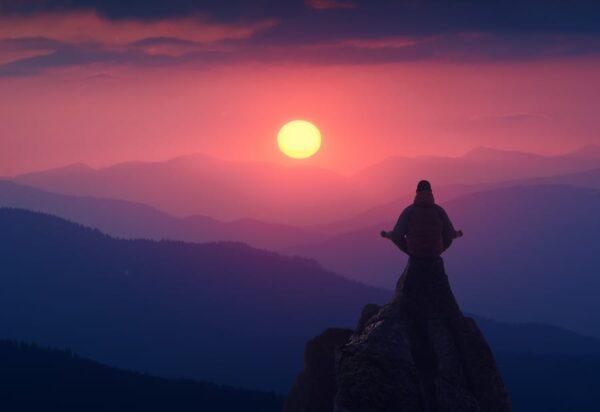 Bigstock meditation on a cliff 187036717